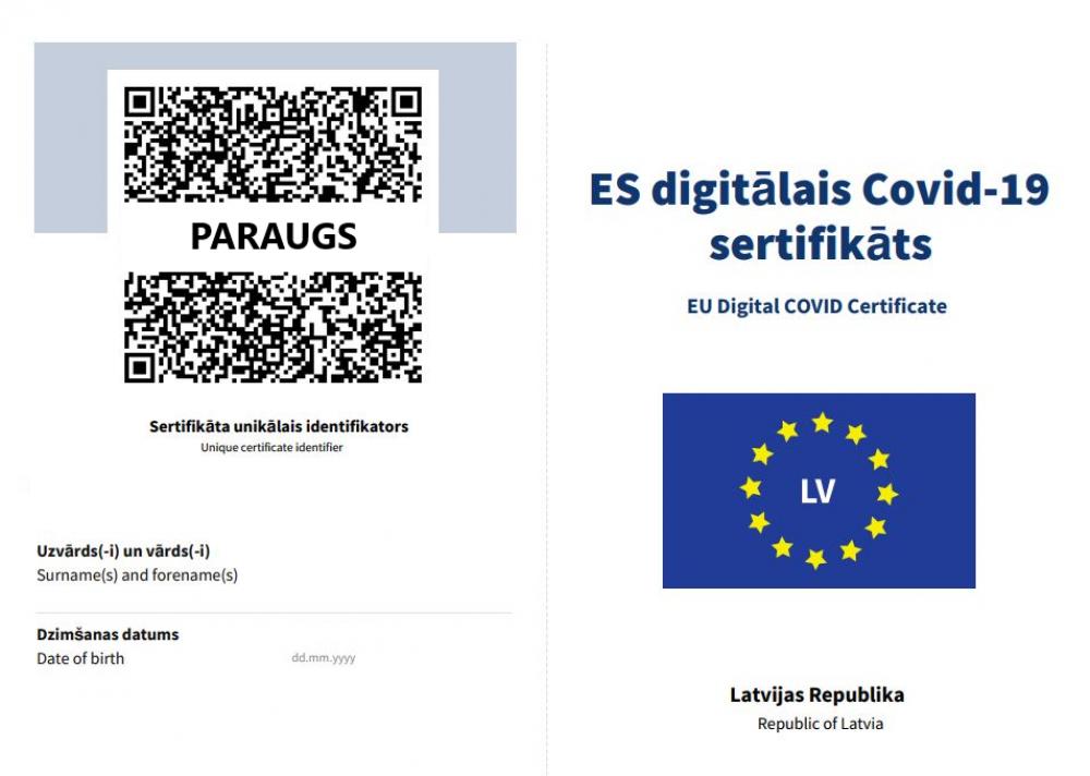 Kā saņemt digitālo Covid-19 sertifikātu - LV portāls